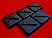 5x 20mm Games Workshop Square slotta diagonal slotted plastic black Warhammer Wargame Bases